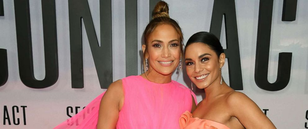 """PHOTO: Jennifer Lopez and Vanessa Hudgens at the """"Second Act"""" film premiere, Arrivals in N.Y., Dec. 12, 2018."""