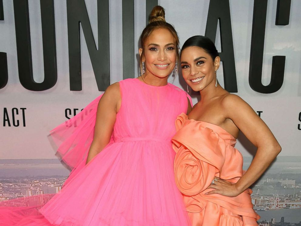 PHOTO: Jennifer Lopez and Vanessa Hudgens at the Second Act film premiere, Arrivals in N.Y., Dec. 12, 2018.