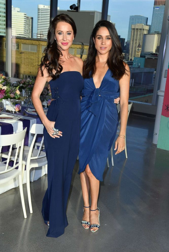 Jessica Mulroney and actress Meghan Markle attends the Instagram Dinner held at the MARS Discovery District, May 31, 2016. in Toronto.