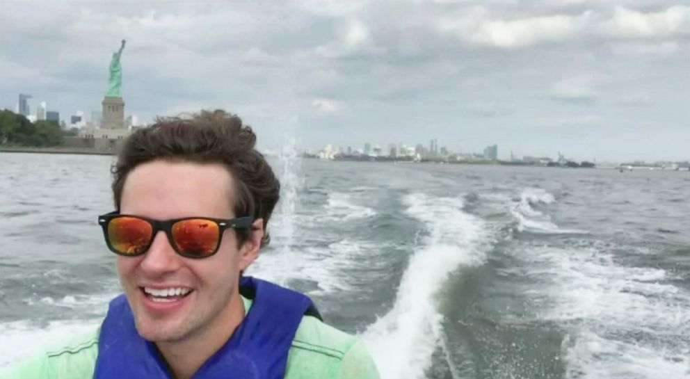 PHOTO: David Pike rides a jetski to his job in Manhattan from Jersey City every morning to avoid traffic.
