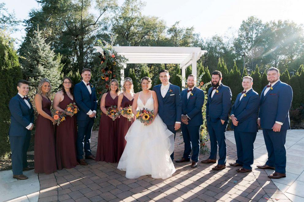 PHOTO: Jillian Hanson Max Allegretti wedding party