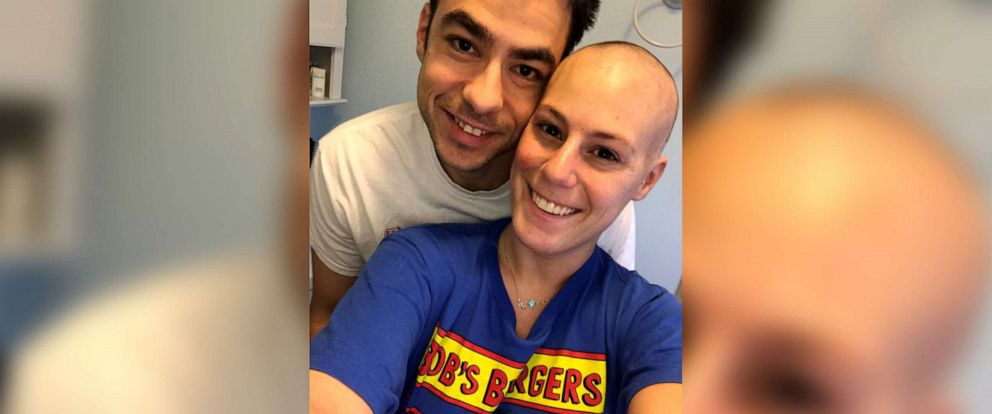 PHOTO: Max Allegretti and Jillian Hanson were to marry on October 18, 2019, two years after Hanson was to begin chemotherapy to battle stage 2 breast cancer.