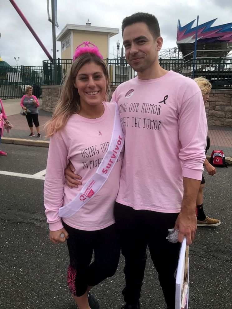 "PHOTO: Jillian Hanson gave her boyfriend Max Allegretti an ""out"" after she was diagnosed with cancer, but Allegretti became her rock, supporting her throughout the highs and lows of her battle."