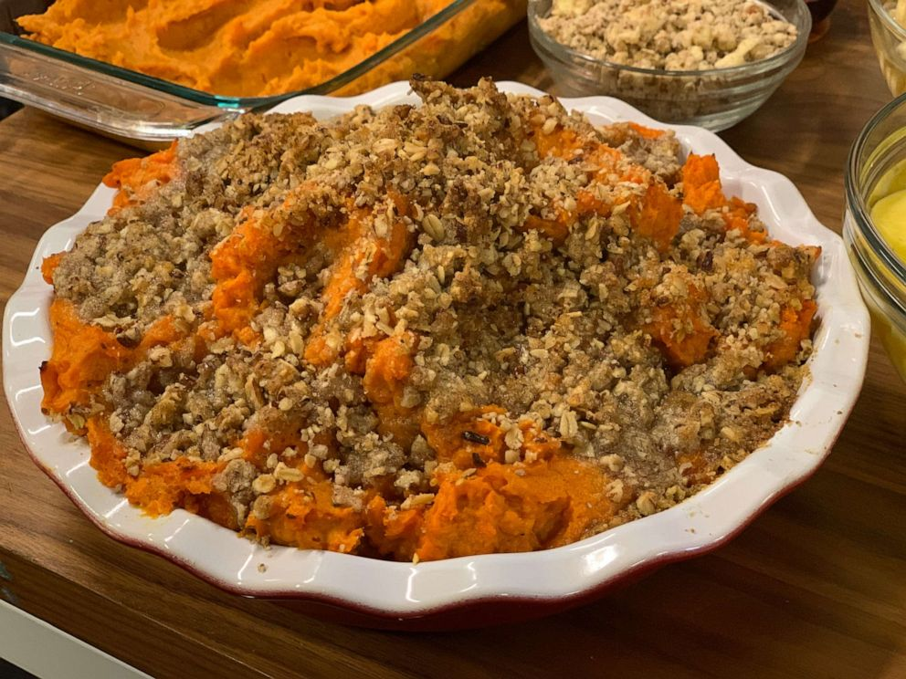 PHOTO: Jeff Mauro's pecan brown sugar butter sweet potatoes.