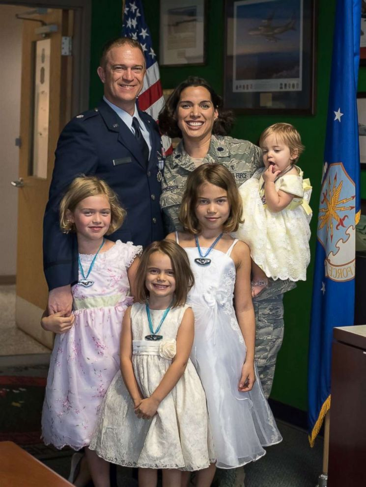 PHOTO: Joanna McPherson of Shreveport, Louisiana, is an Air Force colonel and her husband, Shawn McPherson, is a lieutenant colonel pilot at Barksdale Air Force Base in northwest, La.
