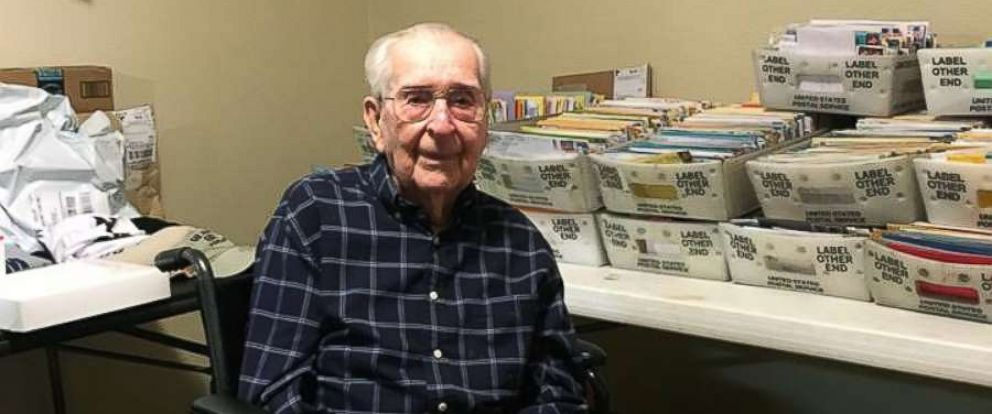 PHOTO: Brookdale Midwestern senior living community in Wichita Falls, Texas posted a photo of their resident, Joe Cuba, asking for 100 cards for his 100th birthday, and he received thousands from people around the world.