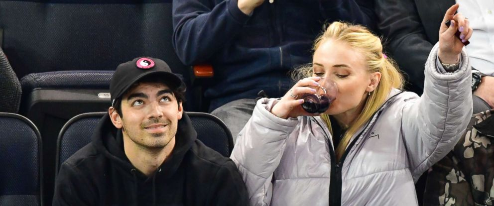 PHOTO: Joe Jonas and Sophie Turner at the Detroit Red Wings v New York Rangers ice hockey game in N.Y., March 19, 2019.