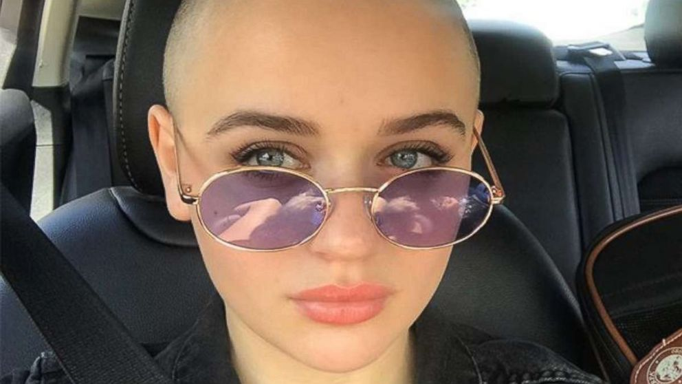 "Actress Joey King shared a photo of her freshly shaved head to Instagram, Oct. 8, 2018, with the caption, ""My name for the next 4 months, is Gypsy Rose Blanchard. This story is very disturbing and I am honored to be able to portray it."""