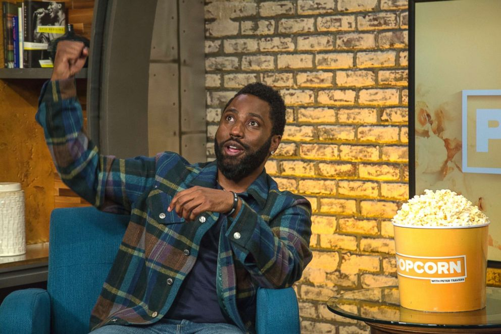 PHOTO: John David Washington appears on Popcorn with Peter Travers at ABC News studios, Sept. 25, 2018, in New York City.