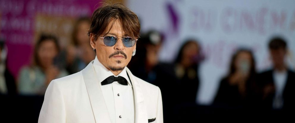 PHOTO: Actor Johnny Depp poses on the red carpet as he arrives to receive an homage award at the 45th Deauville US Film Festival, in Deauville, France, Sept. 8, 2019.