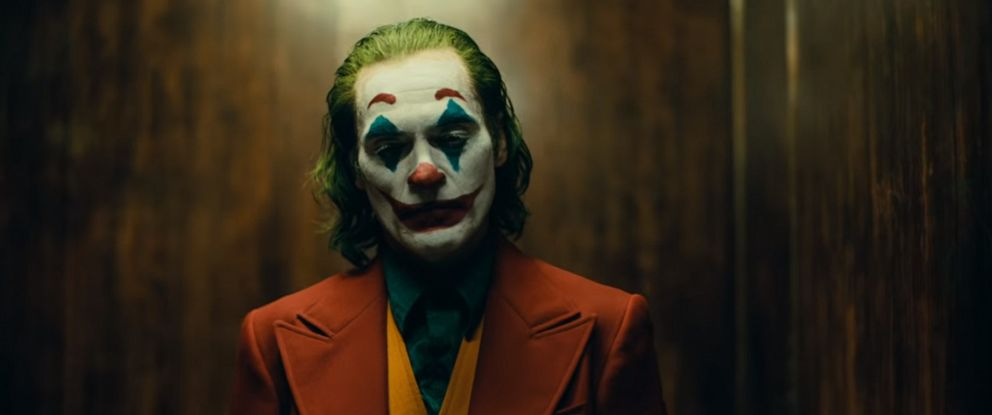 "PHOTO: Joaquin Phoenix in a teaser trailer of ""The Joker"" in theaters, Oct. 4, 2019."