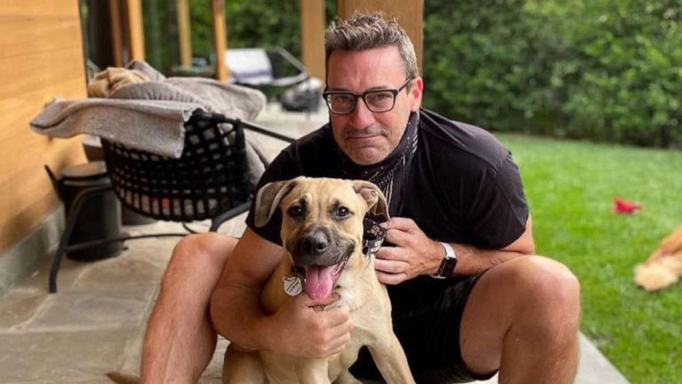 Meet Jon Hamm's new puppy, Splash