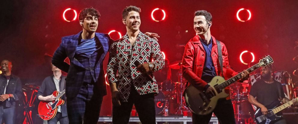 PHOTO: Joe Jonas, Nick Jonas, Kevin Jonas perform as the Jonas Brothers at the El Rey Theatre in Los Angeles, March 7, 2019.