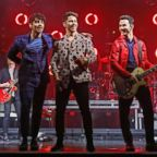 Joe Jonas, Nick Jonas, Kevin Jonas perform as the Jonas Brothers at the El Rey Theatre in Los Angeles, March 7, 2019.