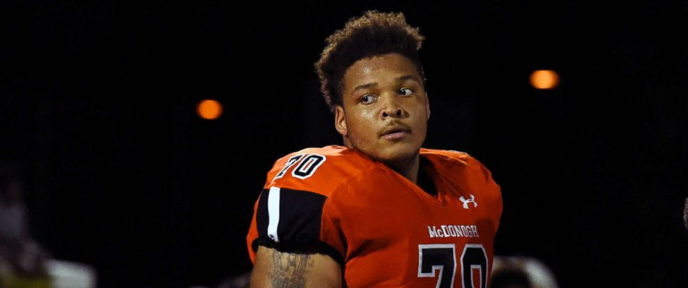 PHOTO: In a Sept. 16, 2016 file image, lineman Jordan McNair of McDonogh High School, with the University of Maryland, died June 13, 2018, two weeks after collapsing during a team workout.