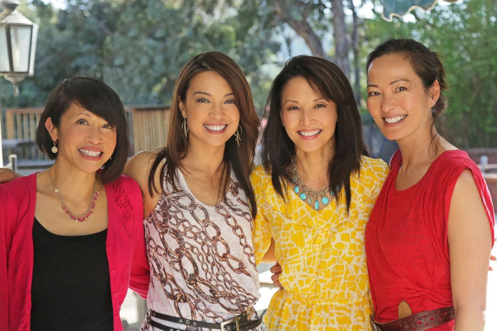 """""""The Joy Luck Club"""" stars Lauren Tom, Ming-Na Wen, Tamlyn Tom and Rosalind Chao are pictured together in March 2013 at Wen's house to celebrate the 20th anniversary of the film."""