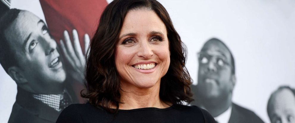 "PHOTO: In this May 25, 2017, file photo, Julia Louis-Dreyfus, a cast member in the HBO series ""Veep,"" poses at an Emmy For Your Consideration event for the show at the Television Academy in Los Angeles."