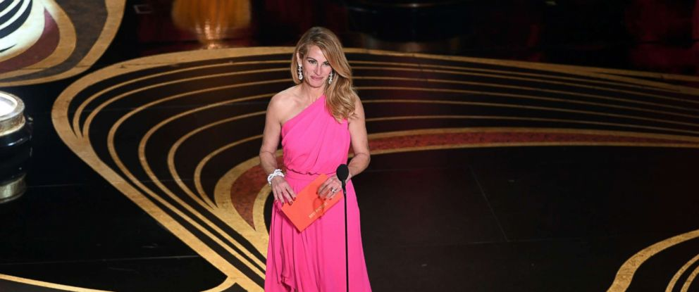 PHOTO: Julia Roberts speaks onstage during the 91st Annual Academy Awards at Dolby Theatre, Feb, 24, 2019 in Hollywood, Calif.