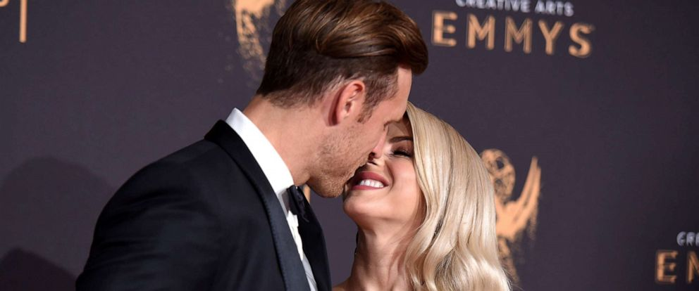 PHOTO: In this file photo, Julianne Hough and Brooks Laich arrive at the Creative Arts Emmy Awards at the Microsoft Theater on Sept. 9, 2017, in Los Angeles.
