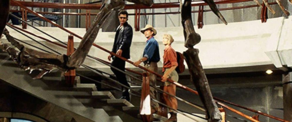 """PHOTO: Jurassic World shared this throwback photo from the original """"Jurassic Park"""" to their Instagram account announcing Jeff Goldblum, Sam Neill and Laura Dern will return to the franchise, Sept. 25, 2019."""