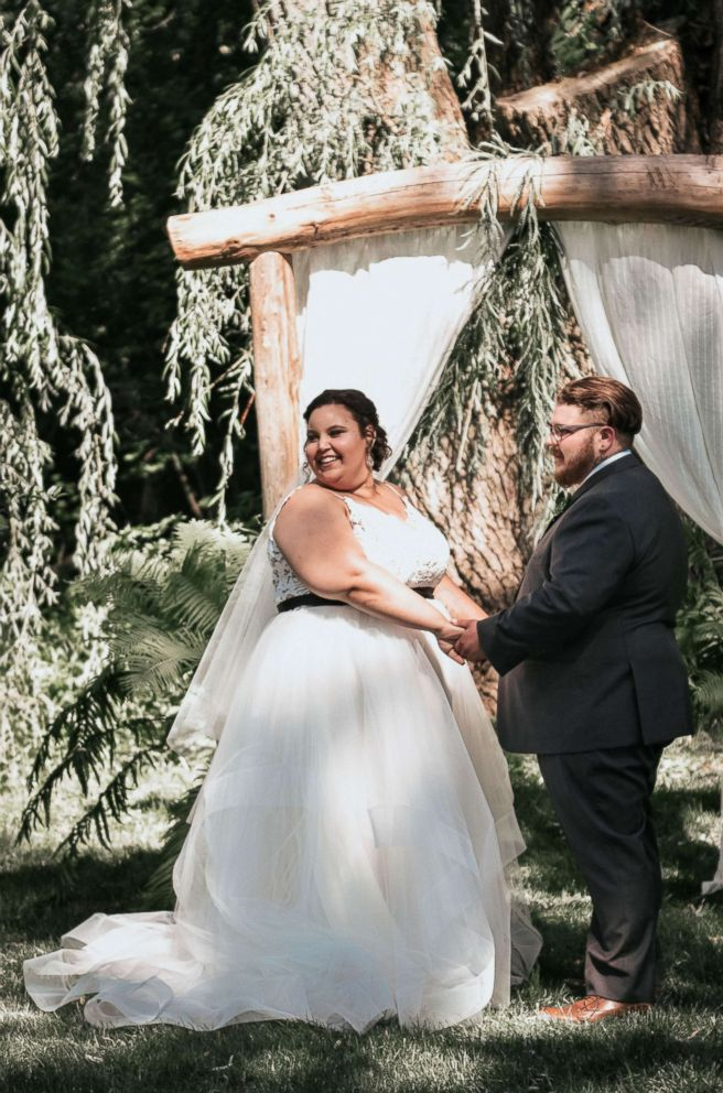 PHOTO: Courtney and Bill McMillion are very big fans of the Jurassic Park films, which is why the couple hosted a wedding that surrounded the movie franchise.