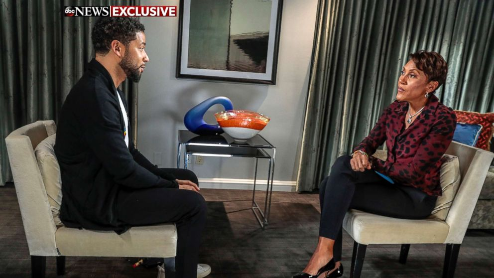 Jussie Smollett speaks with ABC News' Robin Roberts, Feb. 13, 2019.