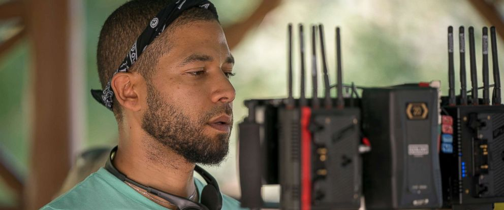 "PHOTO: Jussie Smollett directs an episode of ""Empire,"" Sept. 20, 2018."