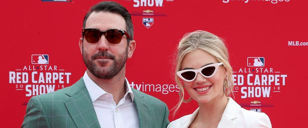PHOTO: Justin Verlander and wife Kate Upton attend the 89th MLB All-Star Game at Nationals Park, July 17, 2018, in Washington, D.C.