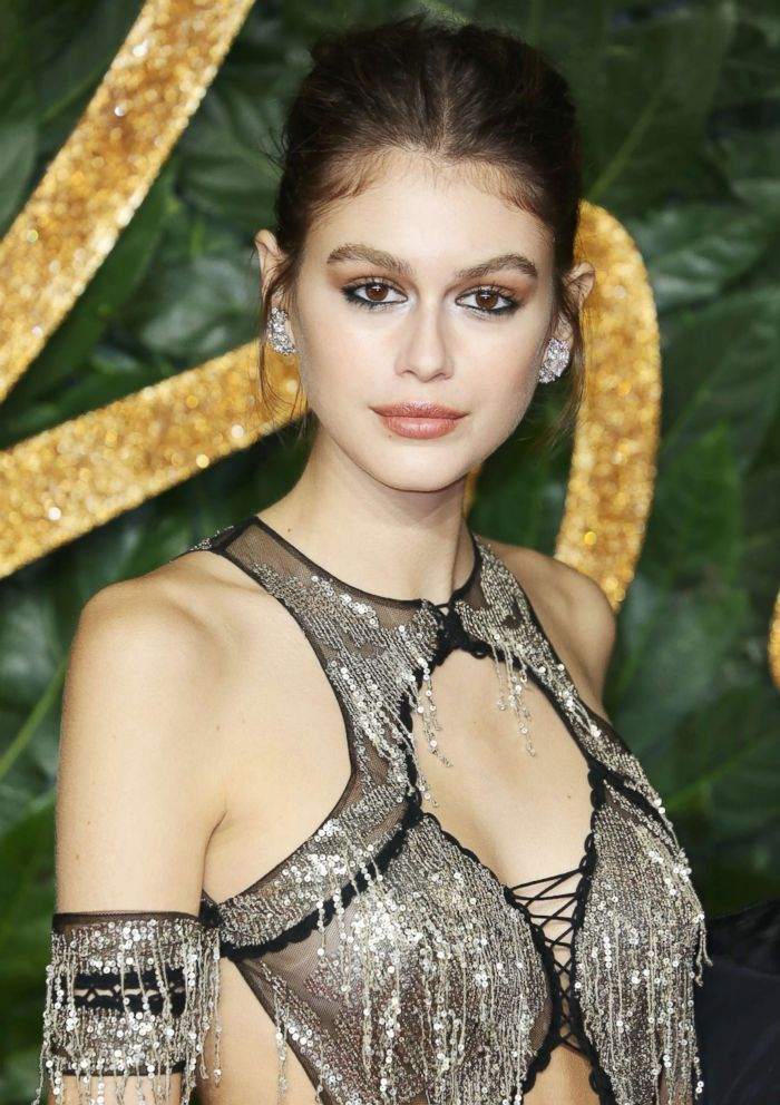 PHOTO: Kaia Gerber arrives at The Fashion Awards 2018 In Partnership With Swarovski in New Jersey, Dec. 10, 2018.