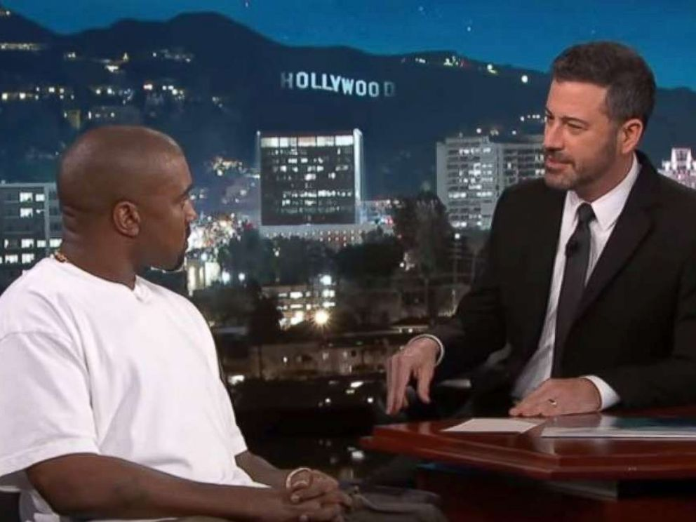 PHOTO: Kanye West appeared on Jimmy Kimmel Live! Aug. 9, 2018.