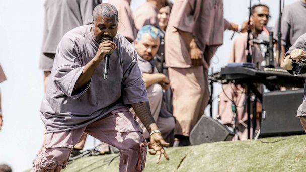 'Jesus Walks' ... to Coachella: Kanye West holds Sunday service on Easter morning