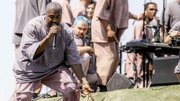 'Jesus Walks' ... to Coachella: Kanye West holds Sunday service on Easter morning