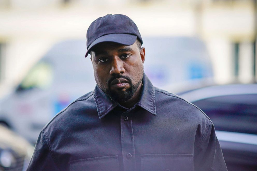 PHOTO: Kanye West is seen during Paris Fashion Week, June 24, 2018, in Paris.