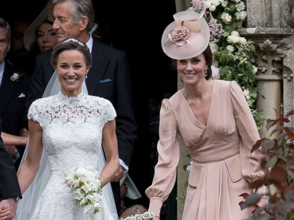 PHOTO: Catherine, Duchess of Cambridge attends the wedding of her sister, Pippa Middleton and James Matthews at St Marks Church on May 20, 2017, in Englefield Green, England.