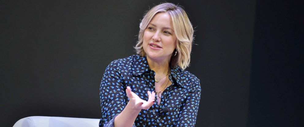 PHOTO: Kate Hudson speaks onstage during In Conversation with Michael Kors, Kate Hudson and The World Food Program at UCLA, Nov. 7, 2018, in Los Angeles.