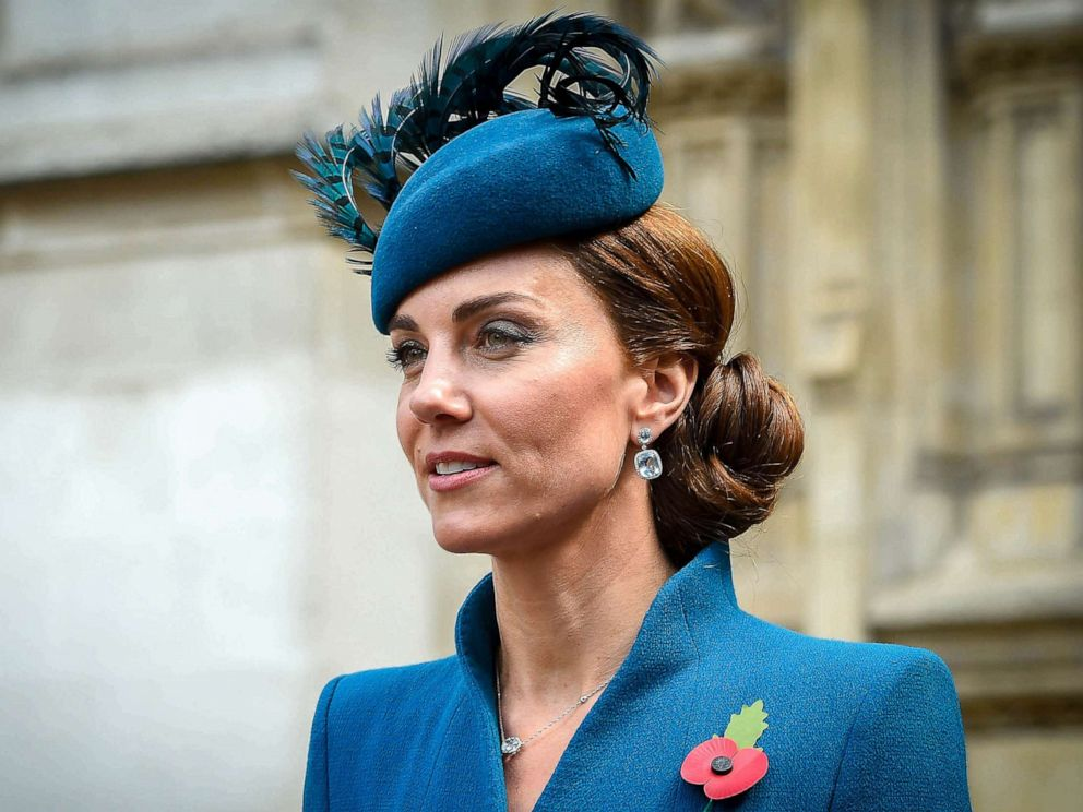 PHOTO: Catherine, Duchess of Cambridge at Westminster Abbey for the Anzac Commemoration Service and Thanksgiving, April 25, 2019, in London.