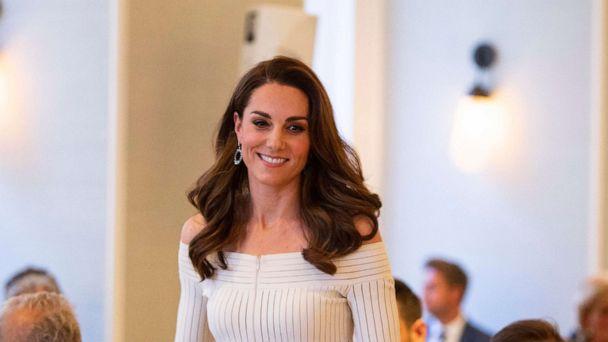 Duchess Kate shines in glamorous white dress and glittery heels for gala