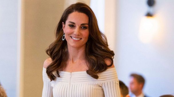 Duchess Kate shines in glamorous white dress and glittery heels for gala