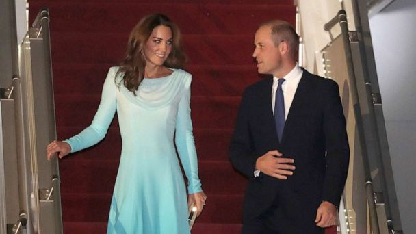 Prince William and Kate arrive in Pakistan for royal trip that will pay homage to late Princess Diana