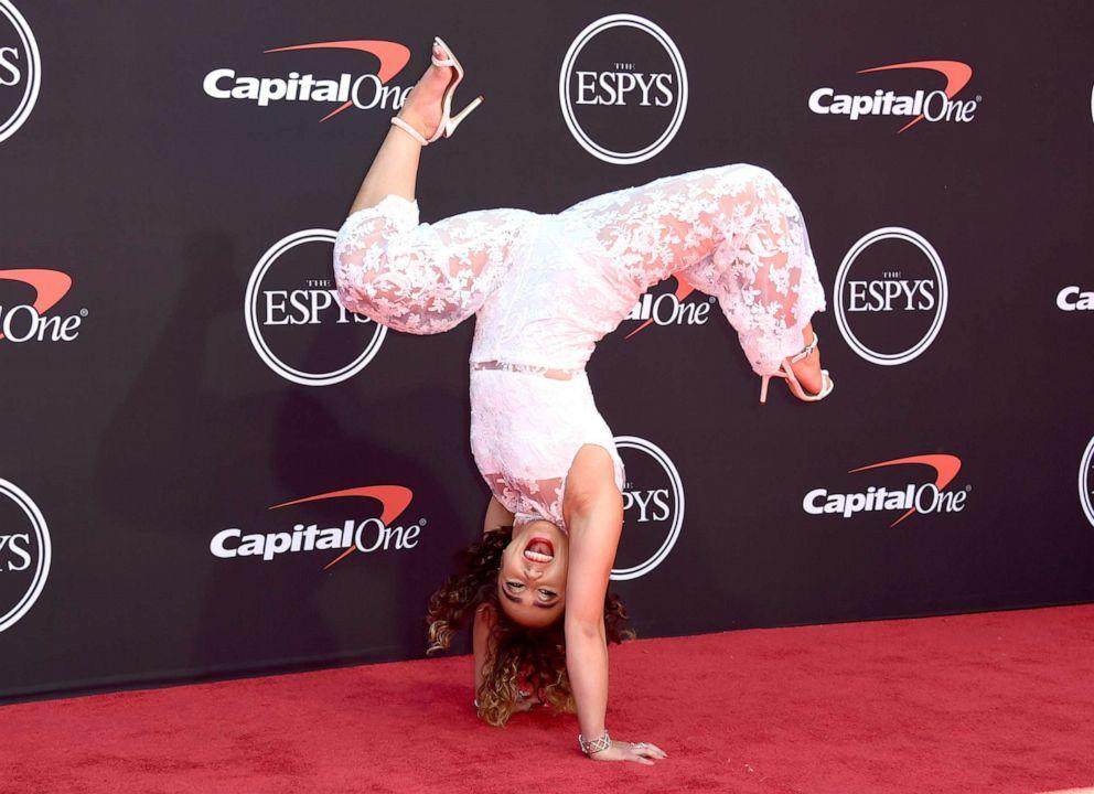 PHOTO: Katelyn Ohashi arrives at the ESPY Awards on July 10, 2019, in Los Angeles.