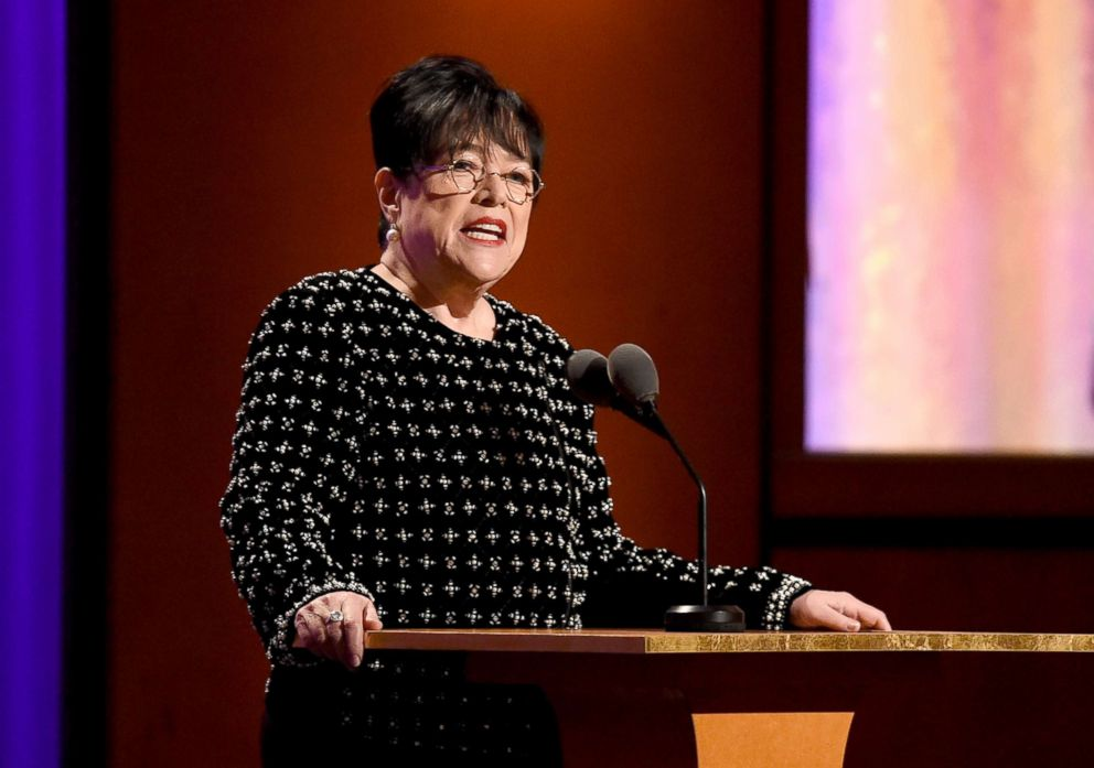 PHOTO: Kathy Bates speaks onstage during the Academy of Motion Picture Arts and Sciences 10th annual Governors Awards on Nov. 18, 2018. in Hollywood, Calif.