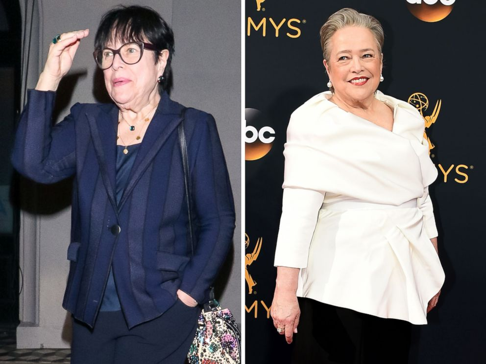 PHOTO: Kathy Bates is pictured in Los Angeles on Jan. 29, 2019, left, and Sept. 18, 2016, right.