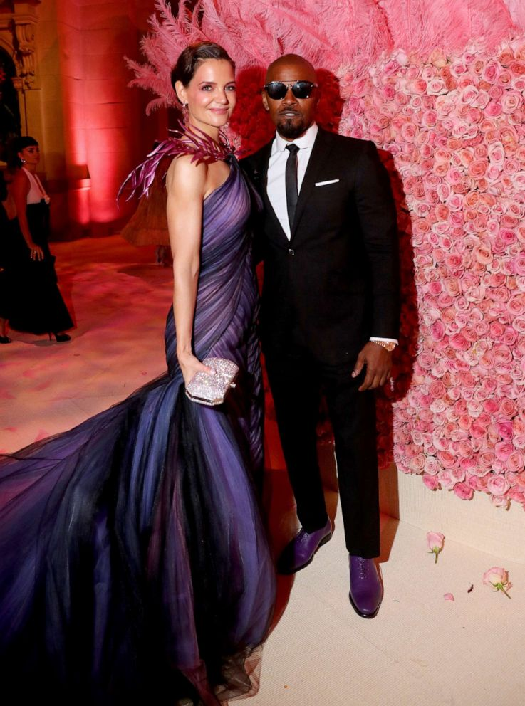 PHOTO: Katie Holmes and Jamie Foxx attend The 2019 Met Gala Celebrating Camp: Notes on Fashion at Metropolitan Museum of Art on May 06, 2019 in New York City.