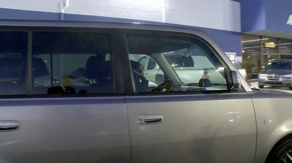 PHOTO: Kayla Cooper, 22, of San Diego, California, is seen driving away from Auto City in El Cajon, California, after a stranger named Dan Laguardia, 49, gifted her a car.