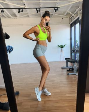dfc672f3779c3 Kayla Itsines busts pregnancy myths, shares her go-to pregnancy workout    GMA