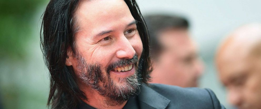PHOTO: Keanu Reeves attends his handprint ceremony at the TCL Chinese Theatre IMAX forecourt, May 14, 2019, in Hollywood, Calif.