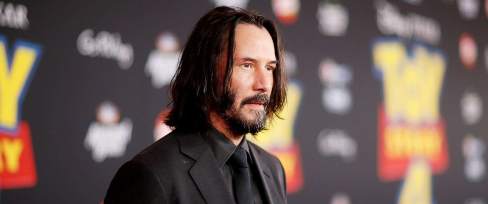 "PHOTO: Actor Keanu Reeves attends the premiere for ""Toy Story 4"" in Los Angeles, June 11, 2019."