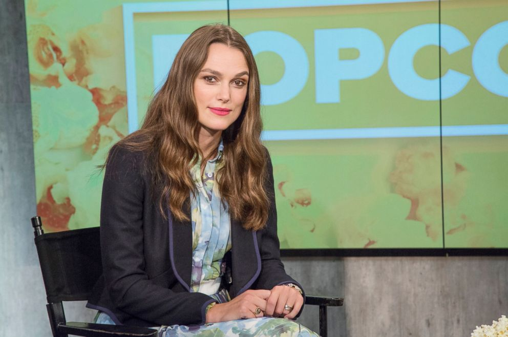 PHOTO: Keira Knightley appears on Popcorn with Peter Travers at ABC News studios, Sept. 13, 2018, in New York City.