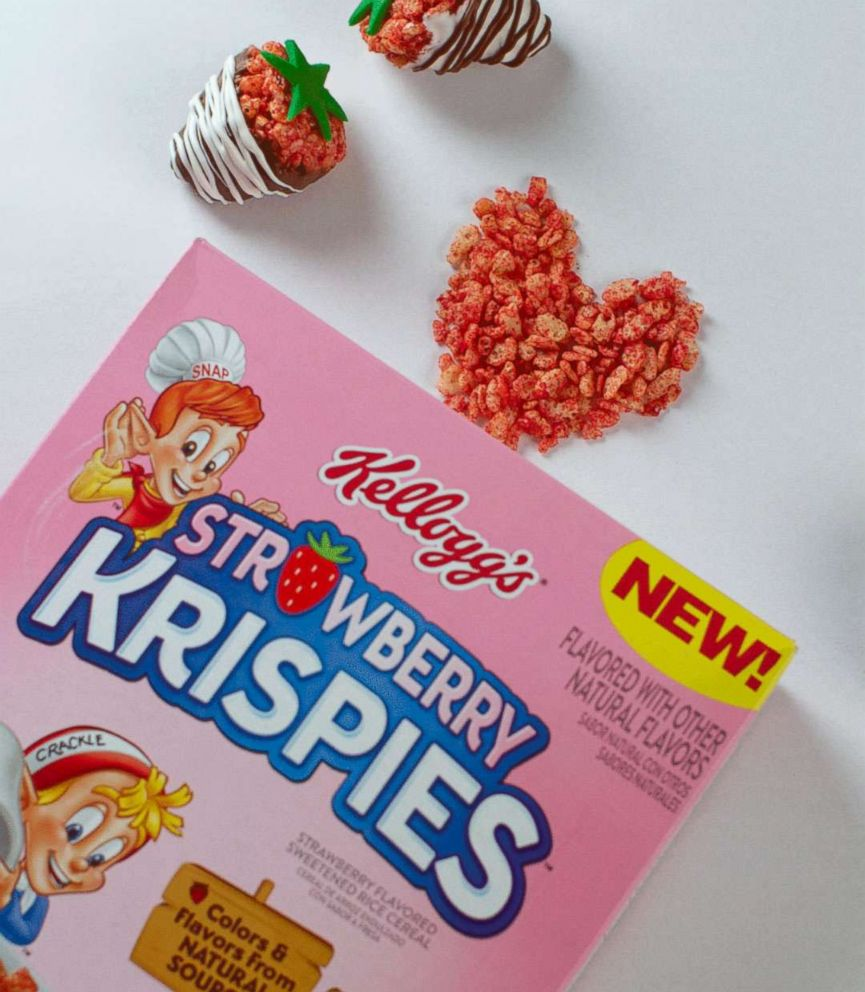 PHOTO: Chocolate-covered Strawberry Krispies Treats are a perfect Valentines Day treat!
