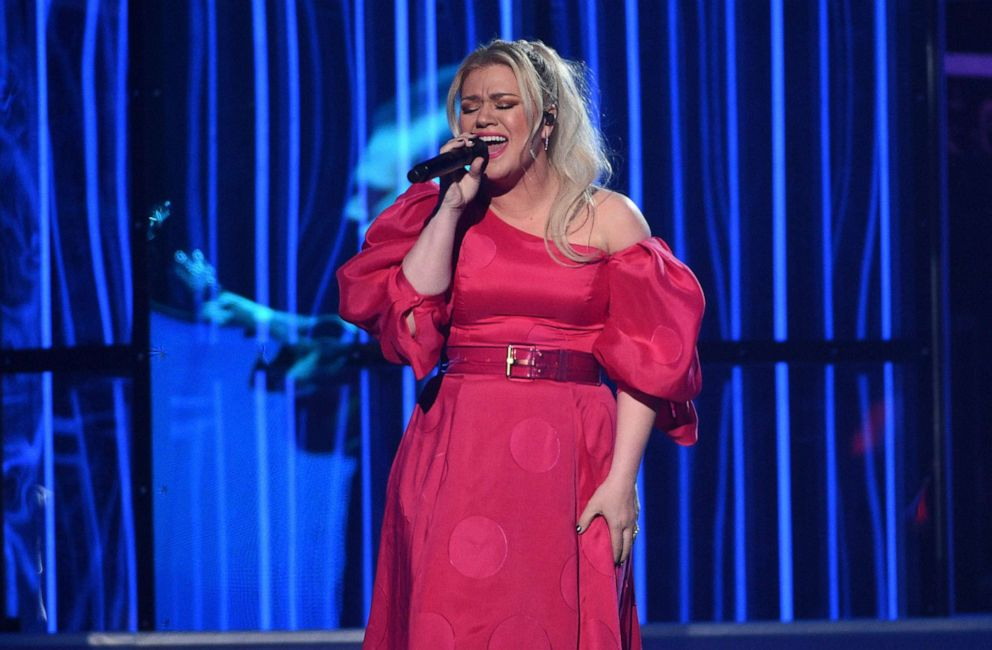 PHOTO: Kelly Clarkson performs Broken & Beautiful at the Billboard Music Awards on Wednesday, May 1, 2019, at the MGM Grand Garden Arena in Las Vegas.